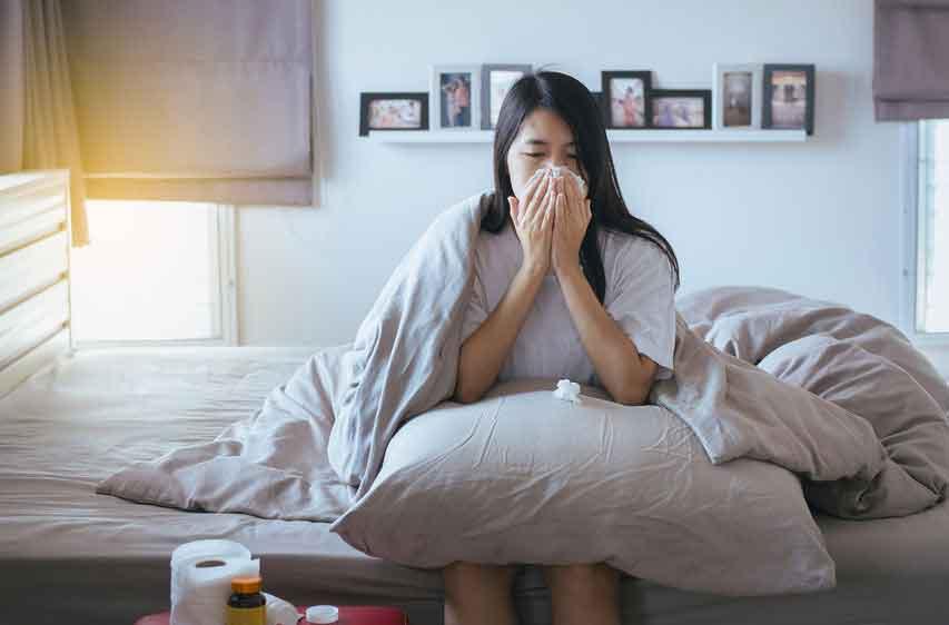 Flu dan Bersin, Ciri Infeksi Pernafasan