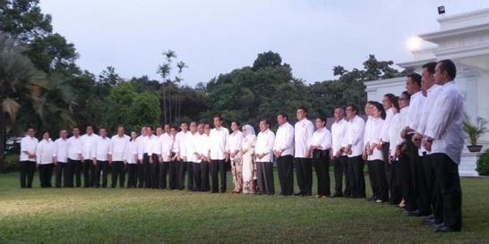 Susunan Nama Menteri Kabinet Kerja Jokowi-JK