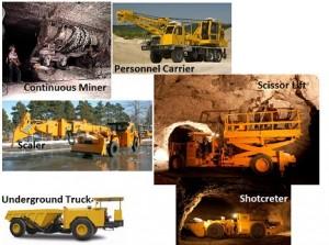 peralatan berat tambang bawah tanah