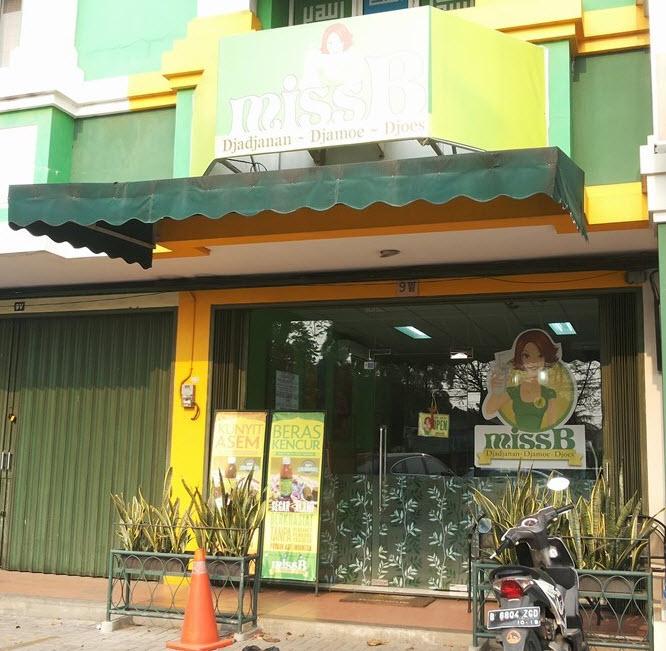 Kafe Miss B Djajanan Djamoe Djoes