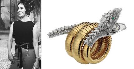 Elizabeth Taylor Tampil Gaya dengan Jam Tangan Bulgari Serpenti