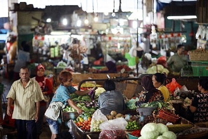 Pasar Tradisional sekitar Pelabuhan Manado